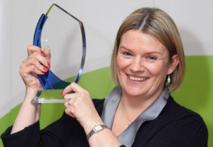 Deirdre Cogan of EZY Technology Innovations with her Award