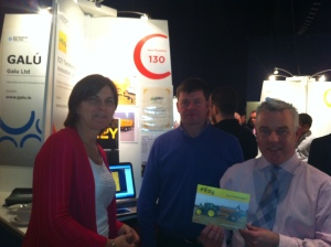 Thomas Carpenter and Colm McDermott of Ezy Technologies Ltd with Lisa Keating from Enterprise Ireland