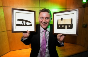 Gavin Curran of Lucky Sods, Winner of AIB JumpStart 2013, with his winning product