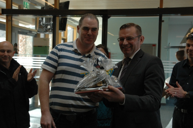 Niall Delaney with Norbert Lins (Euro-MP)